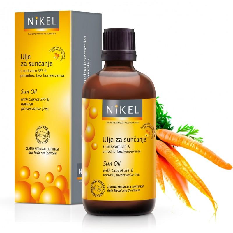 Nikel, Olejek z Marchewką tonujący skórę, SPF 6, 100% naturalny, 100ml