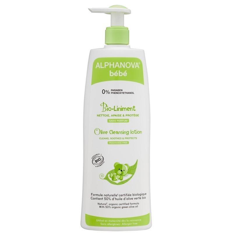 Alphanova Bebe Organiczna oliwka do mycia i kąpieli, 500 ml